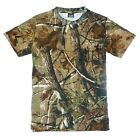 HUNTERS T-SHIRT MENS XXL- 6XL OAK WOODLAND CAMO TEE BIG 100% COTTON SHOOTING TOP