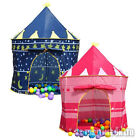 CHILDRENS KIDS POP UP CASTLE PLAY TENT PLAYHOUSE GIRLS PRINCESS OR BOYS WIZARD