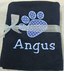 Personalised Dog Puppy Cat Kitten Pet Blanket Embroidered With Your Pet's Name