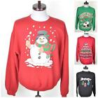 VTG 80s Novelty XMAS Sweatshirt Christmas Santa Reindeer Jumper/Sweater S/M/L/XL
