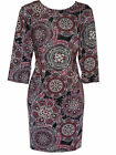 EX EVANS BLACK/PINK/MULTI KALEIDOSCOPE TUNIC TOP/DRESS- PLUS SIZE 16-26/28-30/32