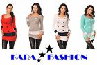 NEW SEXY WOMENS DRESS  LADIES TUNIC  BUTTONS BODYCON  ONE SIZE fit 8 10 12 *8078
