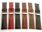Genuine Leather Watch Strap Band fits Breit. SS Buckle RM