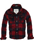 SALE$128 MENS CALI HOLI QUILTED LINED FLANNEL SHIRT JACKET RED NAVY 9825833