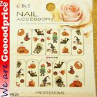 Color Printing Water Tranfer Nail Art Stickers Gift Halloween Pumpkin Style 6-23