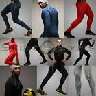 Mens Winter Thermal Sport Compression Set Base Under Layer Top Pants Long Take 5