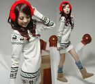 Winter Women's Knit Sweater Dress Jumper Snowflake Deer Pullover Tops