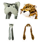 New Animal Winter Hat Fluffy Plush Warm Cap Mittens Scarf...