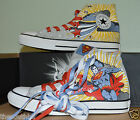 NEW CONVERSE CHUCK TAYLOR SUPERMAN SHOES DC COMICS SNEAKERS sz 4 5 8 8.5 9 9.5