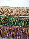Bullion Fringe Trim Cords Upholstery Curtains Chunky Beige Green Purple Gold