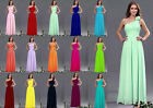 Chiffon One Shoulder Evening Formal Party Ball Gown Prom Bridesmaid Dress 6-16