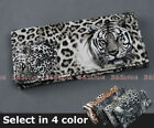 1PC Tiger Leopard Face Print Lady Long Wallet Purse Clutch Coin Bag