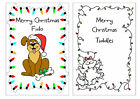 PERSONALISED CHRISTMAS CARD FOR CAT DOG OR OTHER PET ANY WORDS MULTI