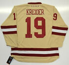 CHRIS KREIDER BOSTON COLLEGE EAGLES UNDER ARMOUR HOCKEY JERSEY NEW YORK RANGERS