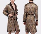 Mens Silk Satin Pajamas Kimono Robe Gown Loungewear US S M L XL,2X to 5X pattern <br/> 15% Sale + Additional up to 10%  VOLUME SALE!