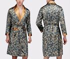DELIVER <5 DAYS Mens Silk Satin Pajamas Kimono Robe Gown Loungewear True US Size <br/> USA company shipping from California