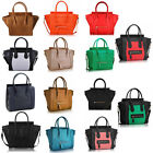 Women's Ladies Celebrity Designer Leather Tote Bag Smile Shoulder Handbag