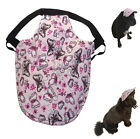 Dog Hat M L XL Pink Butterfly - Adjustable Puppy Cap Visor Sun Protection