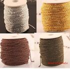 5m/100m plated cable iron metal chain findings silver /gold/Copper open link
