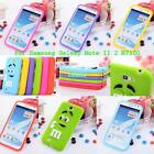 Fashion 3D Cute Lovely Silicone Case Cover for Samsung Galaxy Note2 II N7100 P7