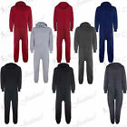 New Mens Womens Unisex Celebrity Quilted All In One Hooded Piece Onesie Jumpsuit