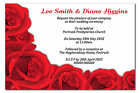 Personalised Day & Evening Wedding Invitations Invites + Envelopes Red Roses