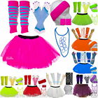 GIRLS  NEON TUTU SKIRT  SET  80.s FANCY DRESS