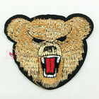 Black Bear Embroidered Iron On Patch 85mm S0387