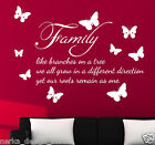Wall Sticker  Family like branches on a tree wall sticker  Wall Quote  N99