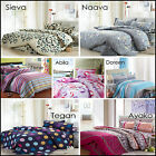 100% Cotton Quilt Doona Duvet Cover Set Bedroom Sheets Size Single Double Queen