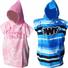 TWF Kids Hooded Poncho Towel Robe Available in Pink or Blue