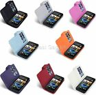 HTC One M7 Luxury Faux Leather Wallet Case Cover With 2 Card Slots