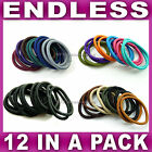 12 Endless hair elastics boobles hairbands snag free