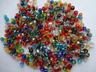 50gms Glass seed beads 2mm Clear/ Vibrant Mix Silver Lined OR Opaque 11/0