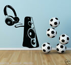 Headphone and Speaker Wall Sticker / DJ Headphone  sticker / Vinyl Sticker S55