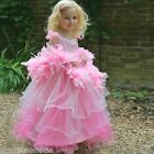 Girls Childrens Frilly Milly Princess Lady Fancy Dress up Costume Outfit Party