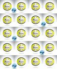 20 x PRECISION SANTOS FOOTBALLS - YELLOW/WHITE - sizes to choose