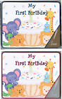 1st BIRTHDAY PARTY DECORATIONS BLUE or PINK SIGNATURE GUEST BOOK  AUTOGRAPH GIFT
