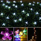 SOLAR POWERED LED BLOSSOM FLOWER FAIRY STRING LIGHTS OUTDOOR GARDEN PARTY