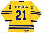 PETER FORSBERG AUTHENTIC TEAM SWEDEN 2006 OLYMPIC GOLD JERSEY COLORADO AVALANCHE