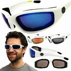 Chopper Wind Resistant White Sunglasses Extreme Sports Motorcycle Riding Glasses