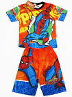 Spiderman Spider-man Boy Outfit Set Polyester T-Shirt+Shorts Size 4-8 age 2-6
