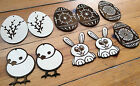 Wooden Easter decoration for crafts,  ornaments, gift tags, engraved  shapes