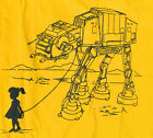 Kid Love AT-AT Star Wars Imperial Walker Graphic Robot anakin Man T-shirt Sz XL