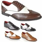 MENS LEATHER LINED ITALIAN FORMAL OFFICE CASUAL BROGUES SHOES BOYS BOOTS SIZE