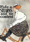 Vintage Reproduction Advertising Poster Stearns Bicycles. circa 1896  A3, A2