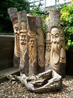Fair Trade Hand Carved Wooden Green Man Full Tree Trunk Stump Log Statue 100cm