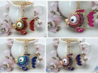 Cute goldfish Crystal Pendant KeyChain Charm Purse Bag Key chain Kay ring Gift