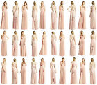 New Elegant Bridesmaid Dress Over 15 Ways to Wrap Formal Evening Gown Size 6-16