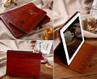 Mosiso@ Vintage Retro Leather Case for iPad 2/3/4 5 Air 2 Stand Cover+ Film - HQ